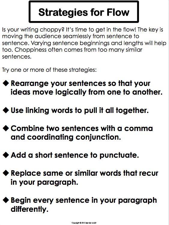 Paragraph writing process
