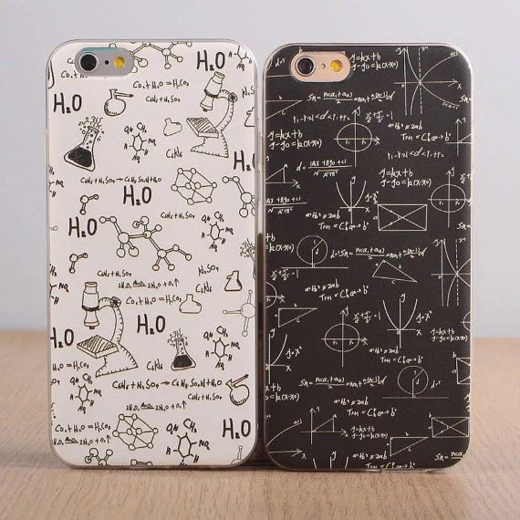 School Subject Math Chemistry Apple iPhone Case | Boy Girl | Best Friends |iPhone 5,5c,5s,6,6Plus | Phone Case