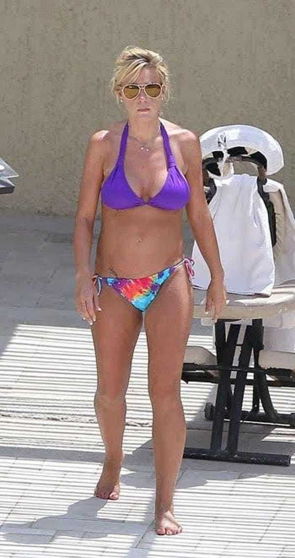 Kate Gosselin in purple scrunc... is listed (or ranked) 4 on the list Kate Gosselin Bikini Pictures