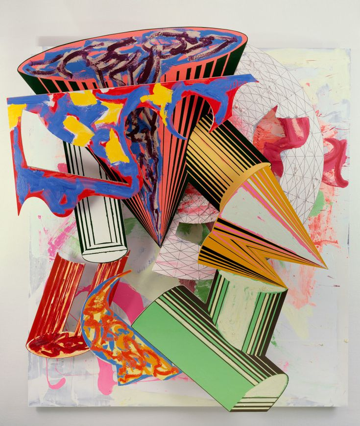 Gobba, Zoppa e Collotorto, 1985. Courtesy of Frank Stella/Artists Rights Society (ARS), New York/The Art Institute of Chicago