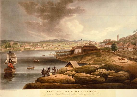 first settlement in sydney cove - Google Search