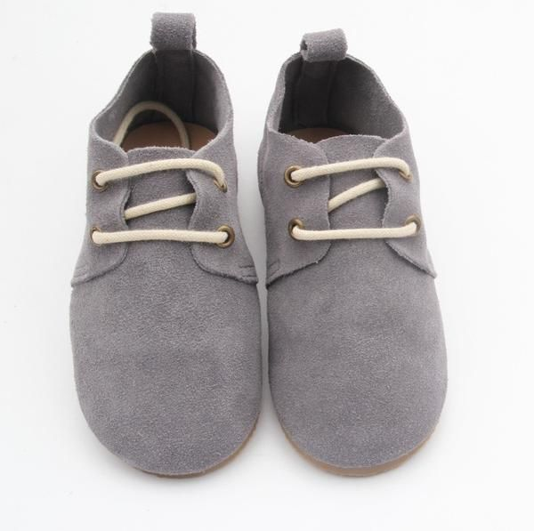 Baby Shoe - Lincoln Oxford Charcoal Suede