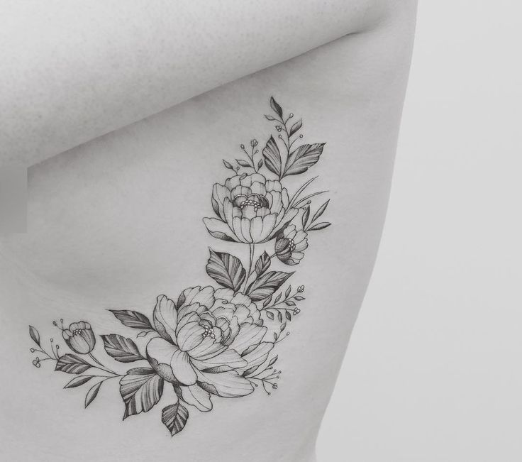 25 Best Ideas About Floral Hip Tattoo On Pinterest: 25+ Best Ideas About Flower Rib Tattoos On Pinterest