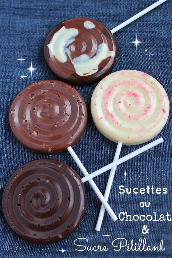 Sucettes au Chocolat & Sucre pétillant 6