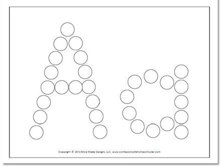 Alphabet Worksheets for Preschoolers | FREE Preschool Do-A-Dot worksheets | Confessions of a Homeschooler
