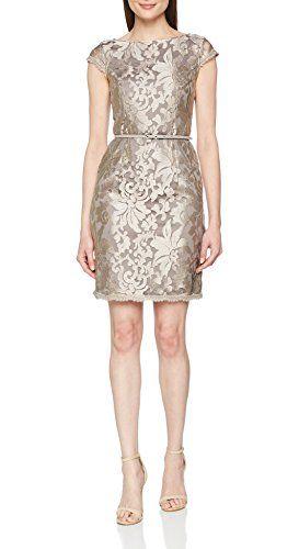 ESPRIT Collection Damen Partykleid 028EO1E046 Braun (Taupe 240) 36 ... 9e282118eb