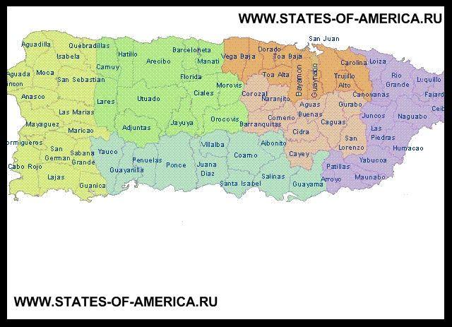 Карта деления Пуэрто-Рико