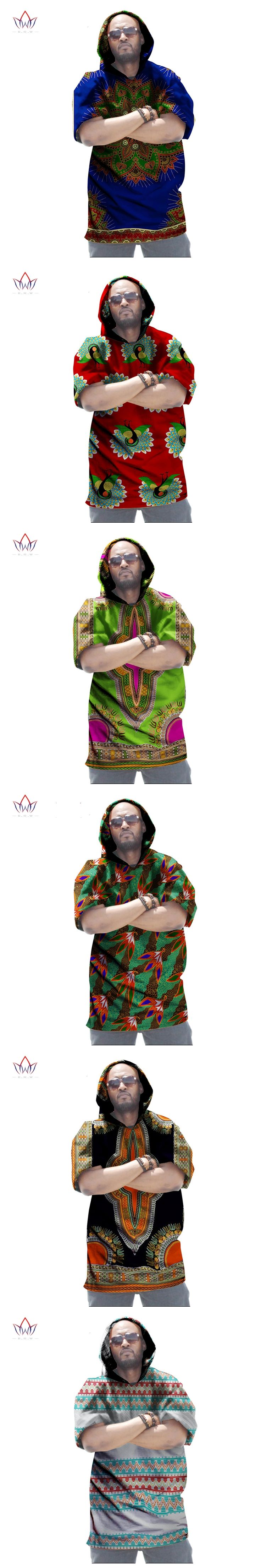 African Print Dashiki for Men Plus Size African Clothing T-shirt Half Sleeve Men Clothing Dashiki Shirt Plus Size 6XL WYN214