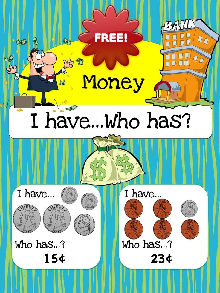 FREEBIE!! - I have... Who has? Game and to help students learn to recognize and count money 1 dollar and under. This game features 42 cards in total. CC.2.MD.8 - Solve word problems involving dollar bills, quarters, dimes, nickels, and pennies, using $ and ¢ symbols appropriately.