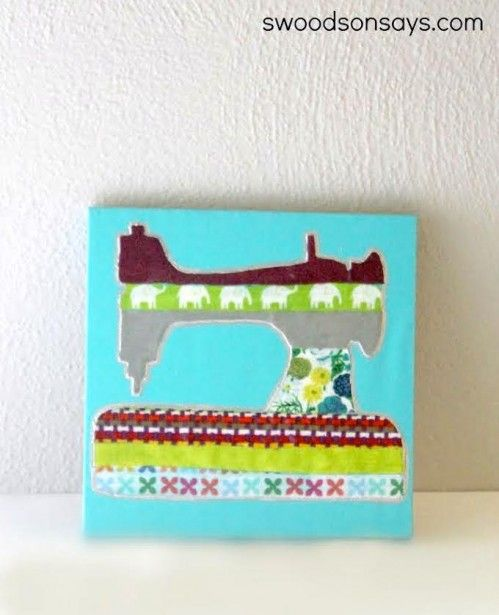 Easy scrap busting decoupage canvas - Mod Podge Rocks...make anything