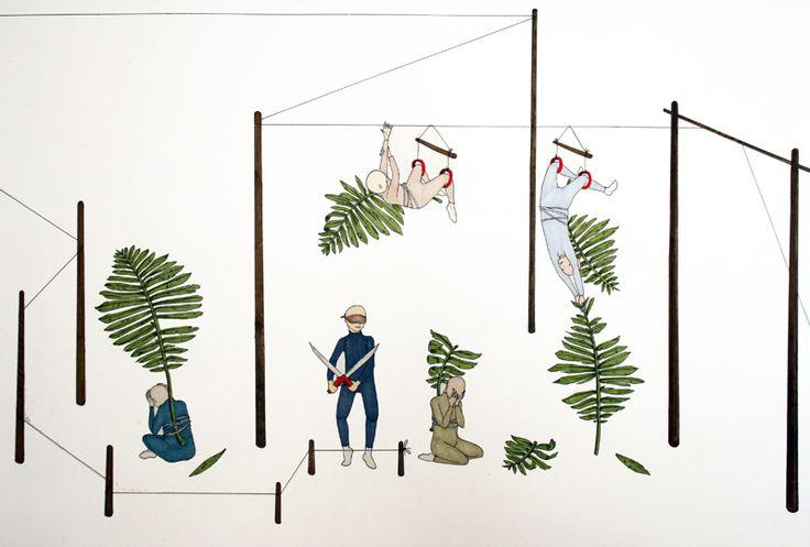 Stephen Lau, Leisure Plex, Ink on paper, Ed. of 1, €620 framed