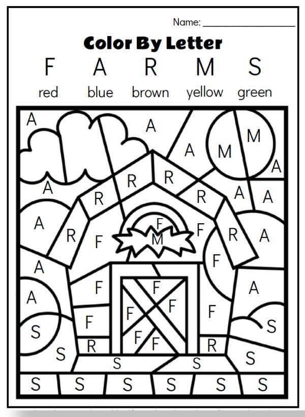 Farm Animal Printables For Preschool Farm Theme Preschool Kindergarten Coloring Pages Preschool Learning