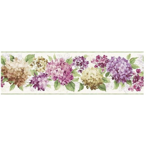 York Sure Strip Purple Hydrangea Removable Wallpaper