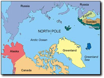 Map Of The Arctic Circle Maps And Pinterest Canada Eh - Arctic ocean on us map