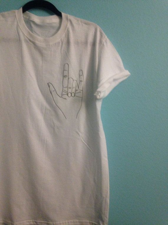 Rock hand tumblr tee by WickednessWithin on Etsy