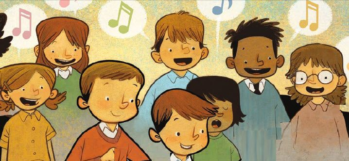 """Primary Pianist Appreciation: Primary kids sing song to the pianist, to the tune of """"I Love to See the Temple"""""""
