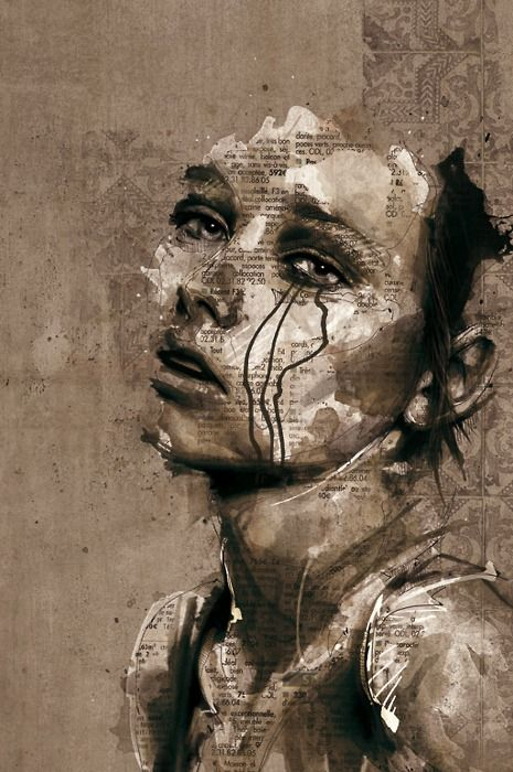 There is an absolutely thing inside of me that moves when art combines layers upon layers of charcoal, muted colours, and poetry to produce such soulful art.