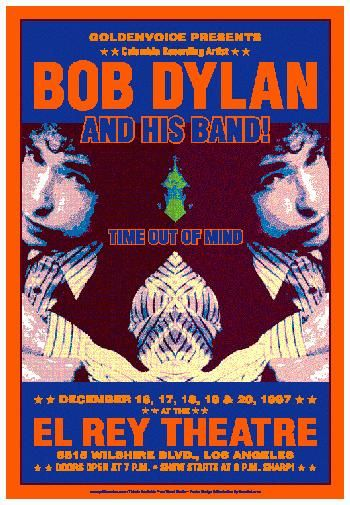 Vintage Bob Dylan concert poster. - Hippie, classic rock.