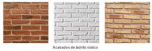 Ladrillo decorativo de pared estilo rústico