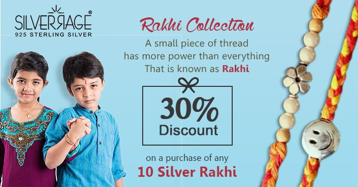 Rakshabandhan is a festival of love and affection between brother and sister. A sister ties the holy thread of Rakhi on the wrist of brother and wishes for the well being of her brother. Earlier the Rakshabandhan was celebrated with mere threads, lifestyle changed & now silver Rakhi's are gaining popularity among new generation.