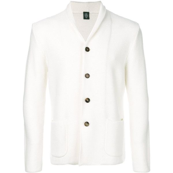 Eleventy shawl collar cardigan (€320) ❤ liked on Polyvore featuring men's fashion, men's clothing, men's sweaters, white, mens shawl collar sweater, mens white cardigan sweater, mens white sweater, mens shawl collar cardigan sweater and mens cardigan sweaters