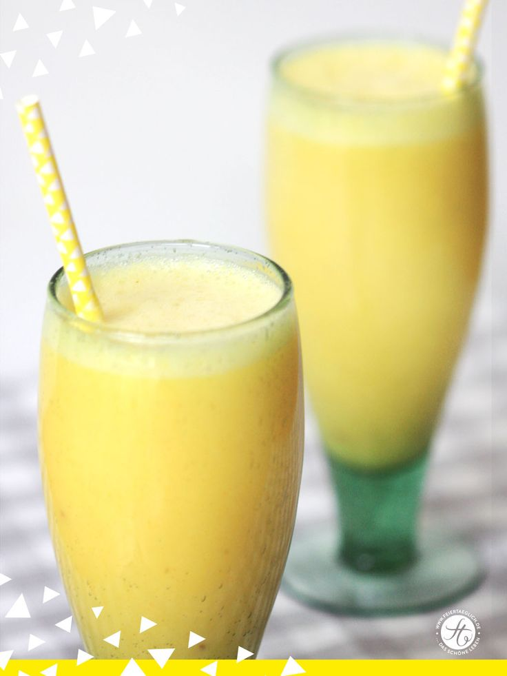 Gute-Laune-Ananas-Ingwer Smoothie – feiertäglich…das schöne Leben