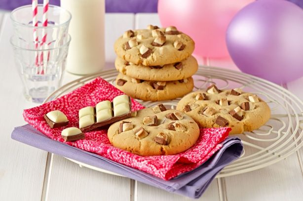 These large Café style cookies are easy to make and enjoy at home. The family will love them.
