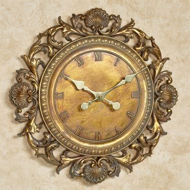 Brooklynn Gold Wall Clock
