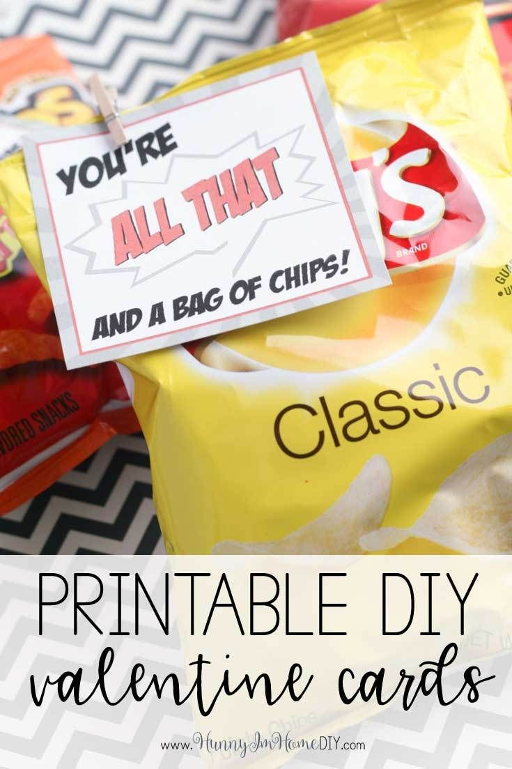 image relating to All That and a Bag of Chips Printable called Do it yourself Valentine Playing cards: Youre All That and a Bag of Chips