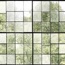 Vanhat tehtaan ikkunat avautuvat ylikasvaneeseen puutarhaan eli luonto voittaa. Avaa ikkuna luontoon tilassa, jossa ikkunoita tai näkymää puutarhaa ei ole.