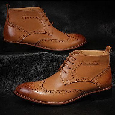 Sapatos Masculinos Botas Preto / Marrom / Amarelo Couro Casual de 3828307 2016 por R$171,41