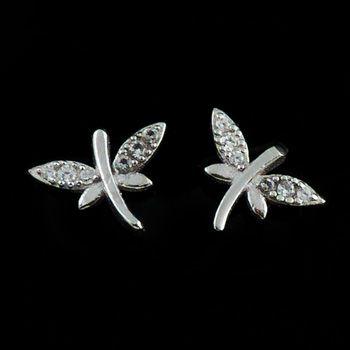 Cercei in forma de Libelula din argint doar pe www.silverbox.ro