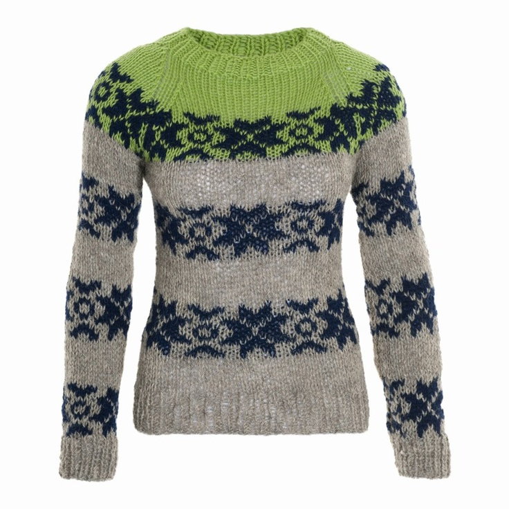 Variation of Sarah Lund pullover from Gudrun & Gudrun.