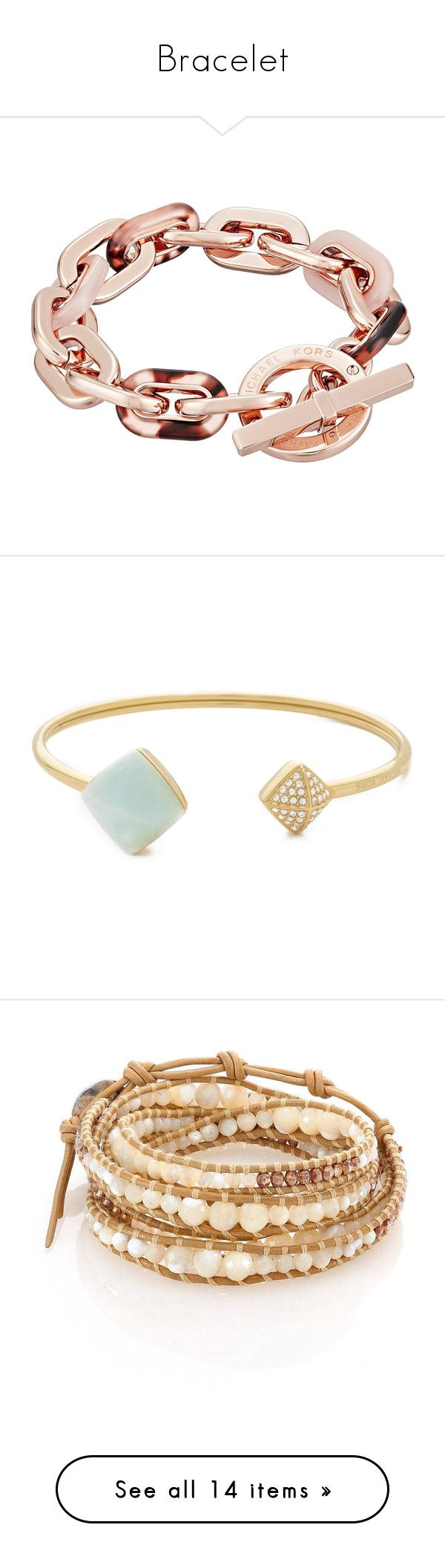 """Bracelet"" by patriciaaa02 ❤ liked on Polyvore featuring jewelry, bracelets, michael kors, rose gold jewelry, rose gold bangle, tortoise shell bangle, michael kors bangle, cz jewellery, cz jewelry and michael kors jewelry"