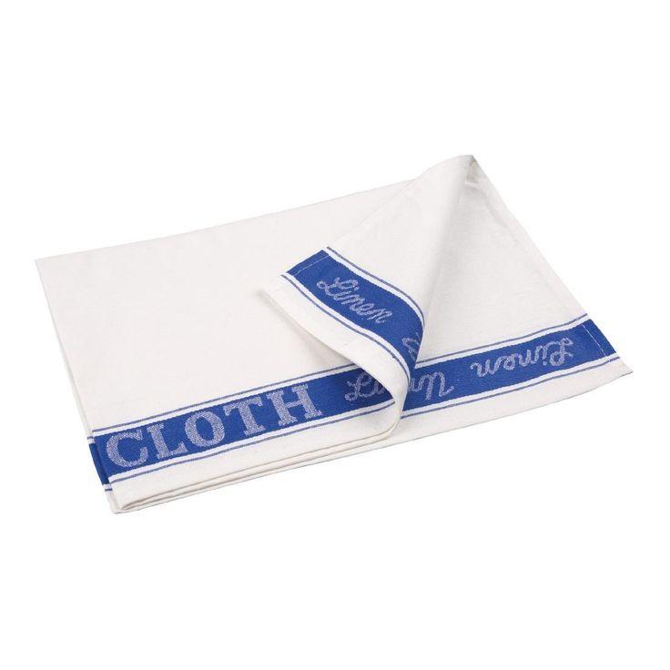 Paño de lino para cristalería color azul Vogue E911