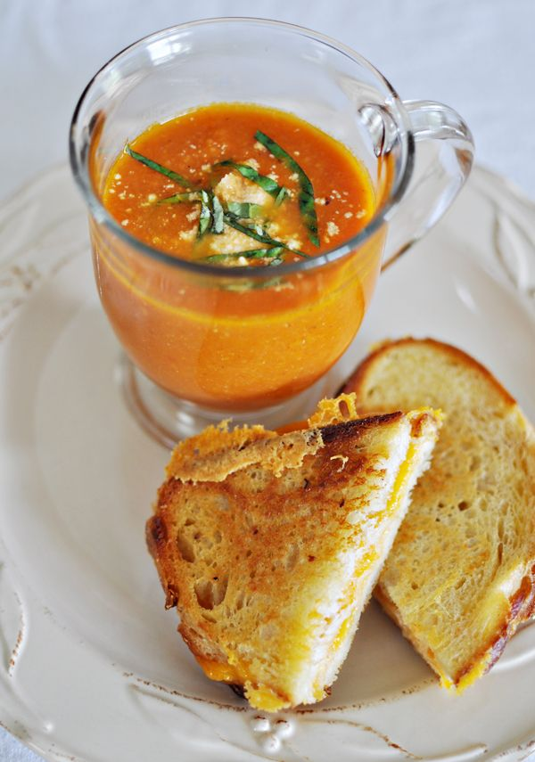 Home made tomato soup and grilled cheese. Comfort food at it's finest!