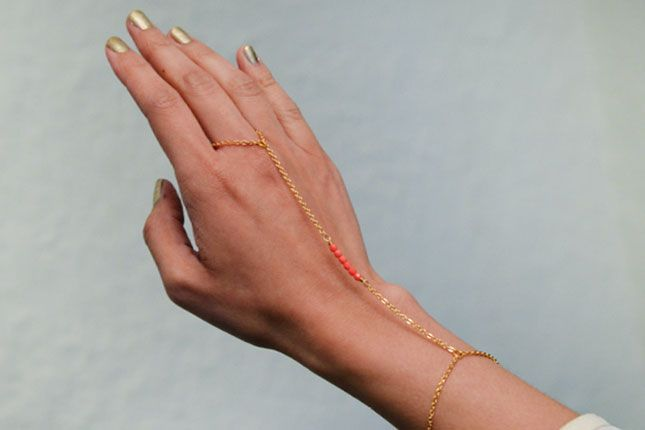 Use this tutorial to DIY a beaded hand chain.
