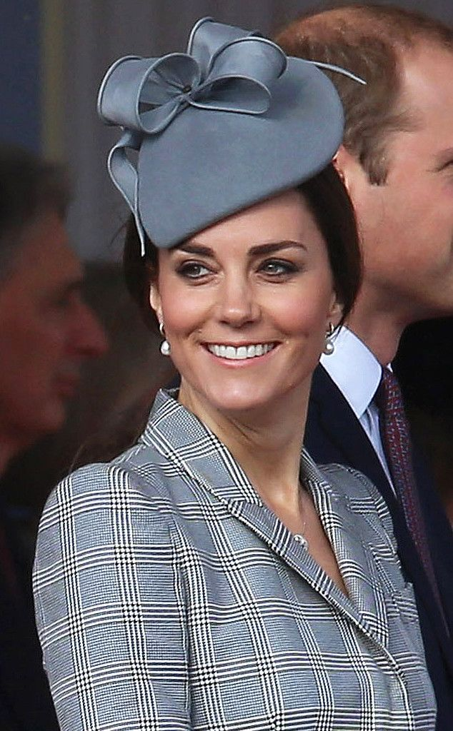 Single Tear from Duchess Catherine's Hats & Fascinators  She recycles her teardrop Jane Taylor fascinator for a second stylish look.