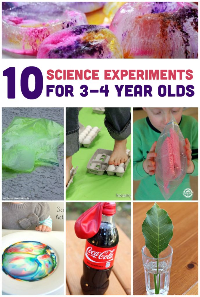 Here are my most favorite experiments I've found for a three to four-year-old.