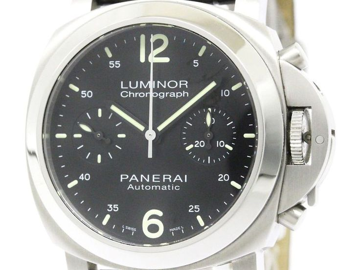 Polished #PANERAI Luminor Chronograph Steel Automatic Watch PAM00310 (BF302881) #eLADY global offers free shipping worldwide. For more pre-owned luxury brand items, visit http://global.elady.com