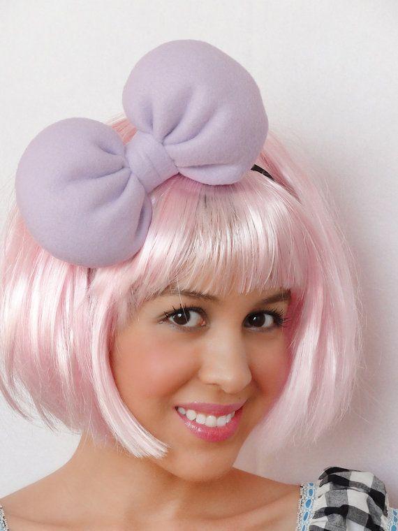 Daisy Duck Bow Headband  Big Hair Bow Lilac headband by JuicyBows, $15.00