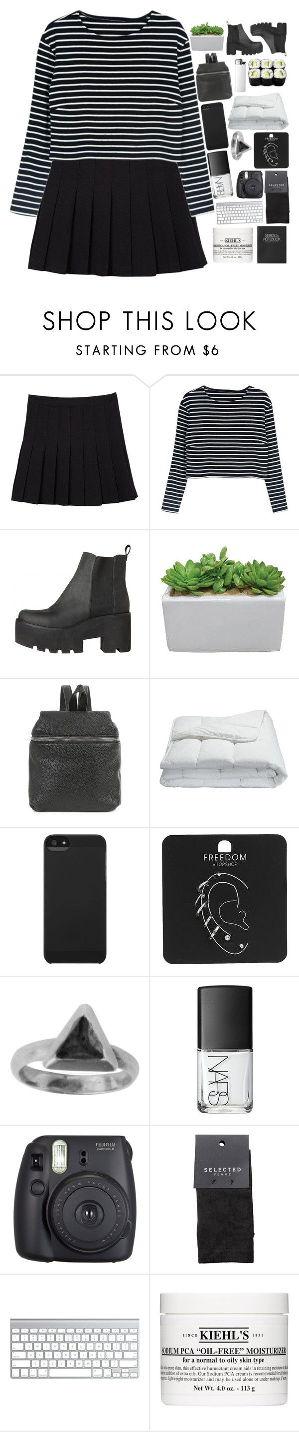 """THE KIDS CRIED OUT PLEASE STOPD YOURE SCARING ME ❤️"" by nothing-like-outerspace ❤ liked on Polyvore featuring Kara, Frette, Incase, Topshop, Zoemou, NARS Cosmetics, Fuji, SELECTED and Kiehl's"