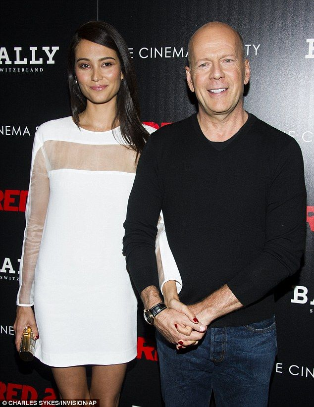 Bruce Willis with wife Emma Heming.