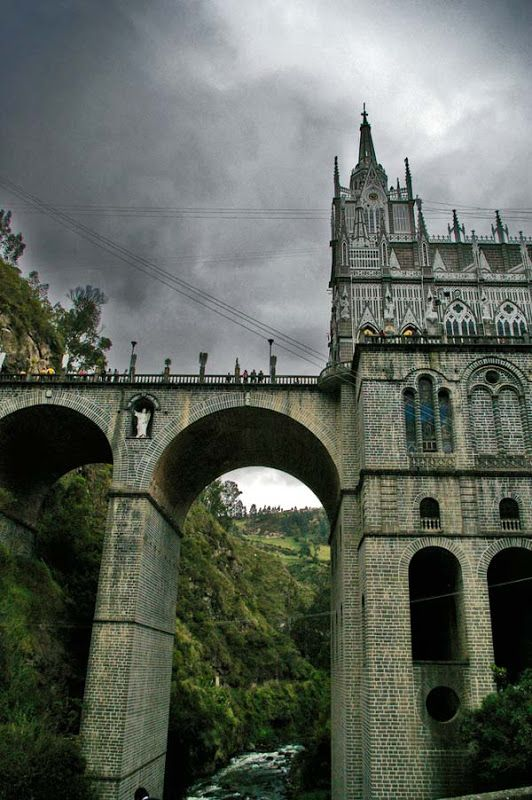 50 Most Extraordinary Churches of the World   Bored Panda/ Las Lajas Cathedral, Colombia