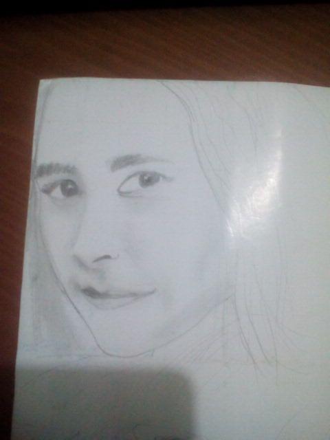 Prilly Latuconsina portrait pencil drawing