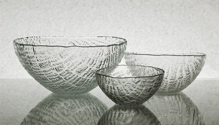 """Eryka and Jan Drostowie, bowls from the """"Igloo"""" set, designed by Eryka…"""