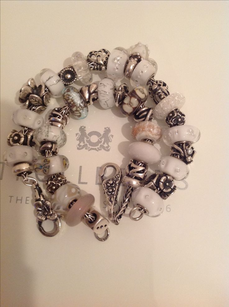 My go with anything bracelets!! Love silver and white.