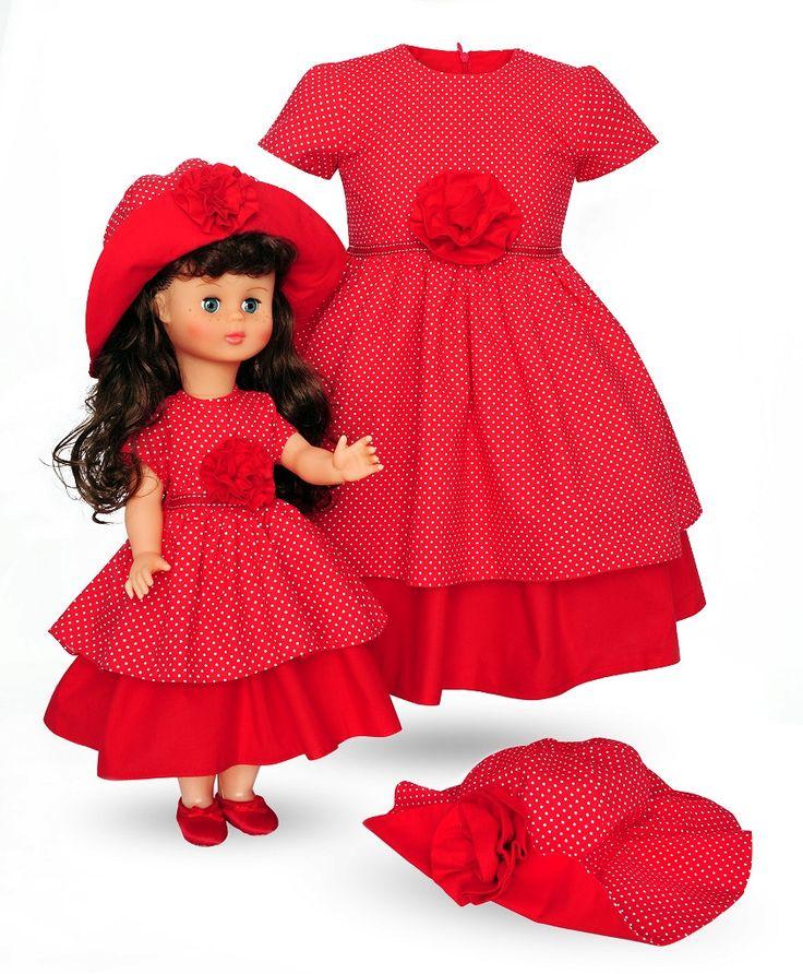 LALKA TESS W SUKIENCE MAKOWEJ I SUKIENKA DLA DZIEWCZYNKI - Buy4Kids - sukienki dla dziewczynek i dla lalek