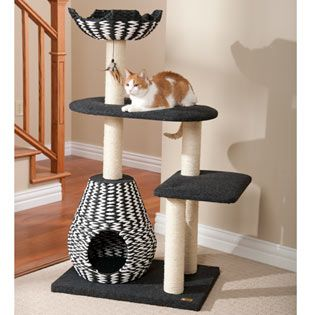 $150.99 - 4 Level Contemporary Cat Tower ~ this is by far my favorite, classy and multi level