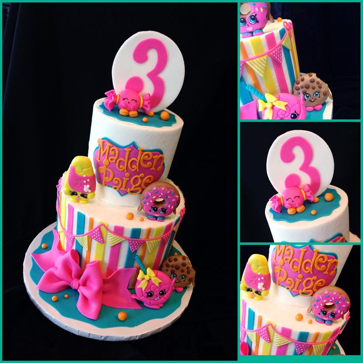 Cute Shopkins birthday cake